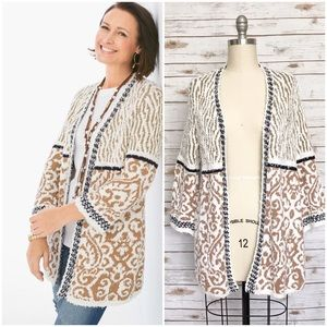 CHICOS Pattern Mix Audrey Cardigan Sweater (NWT)